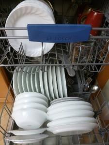 Distribución de un lavavajillas